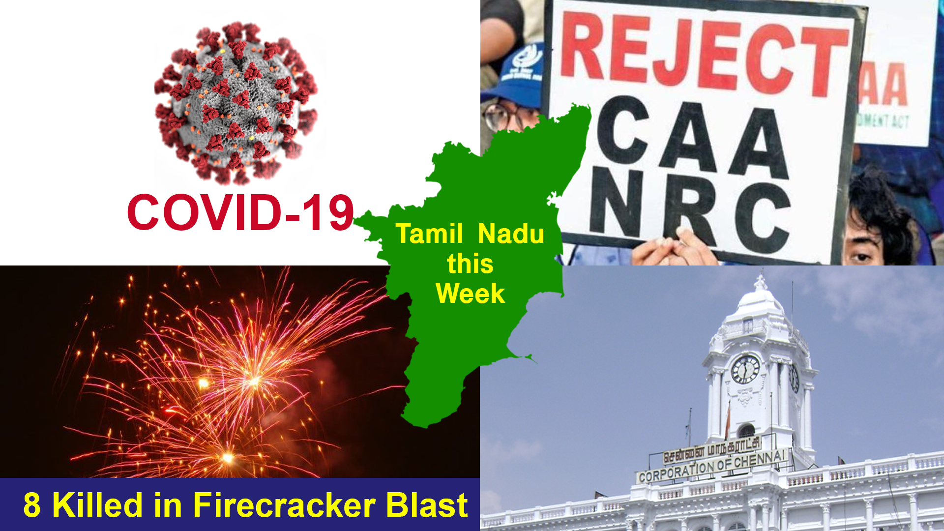 TN this Week: COVID-19 Affects Normalcy, Anti-CAA Protests Called Off and Firecracker Unit Blast Kills Nine Workers