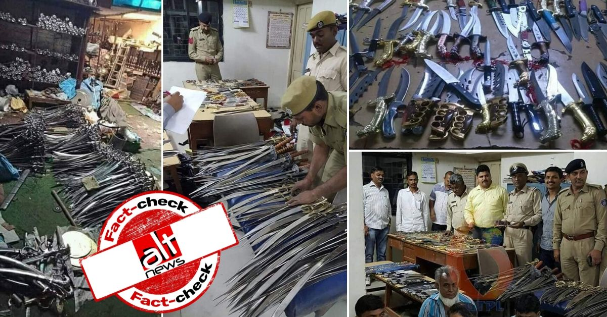 Old images of weapons seized in Punjab, Gujarat shared as Delhi riots