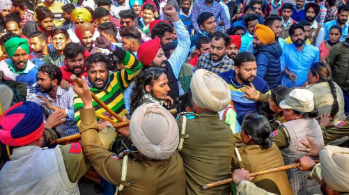 Protesting Unemployed Teachers Lathi-charged by Patiala Police