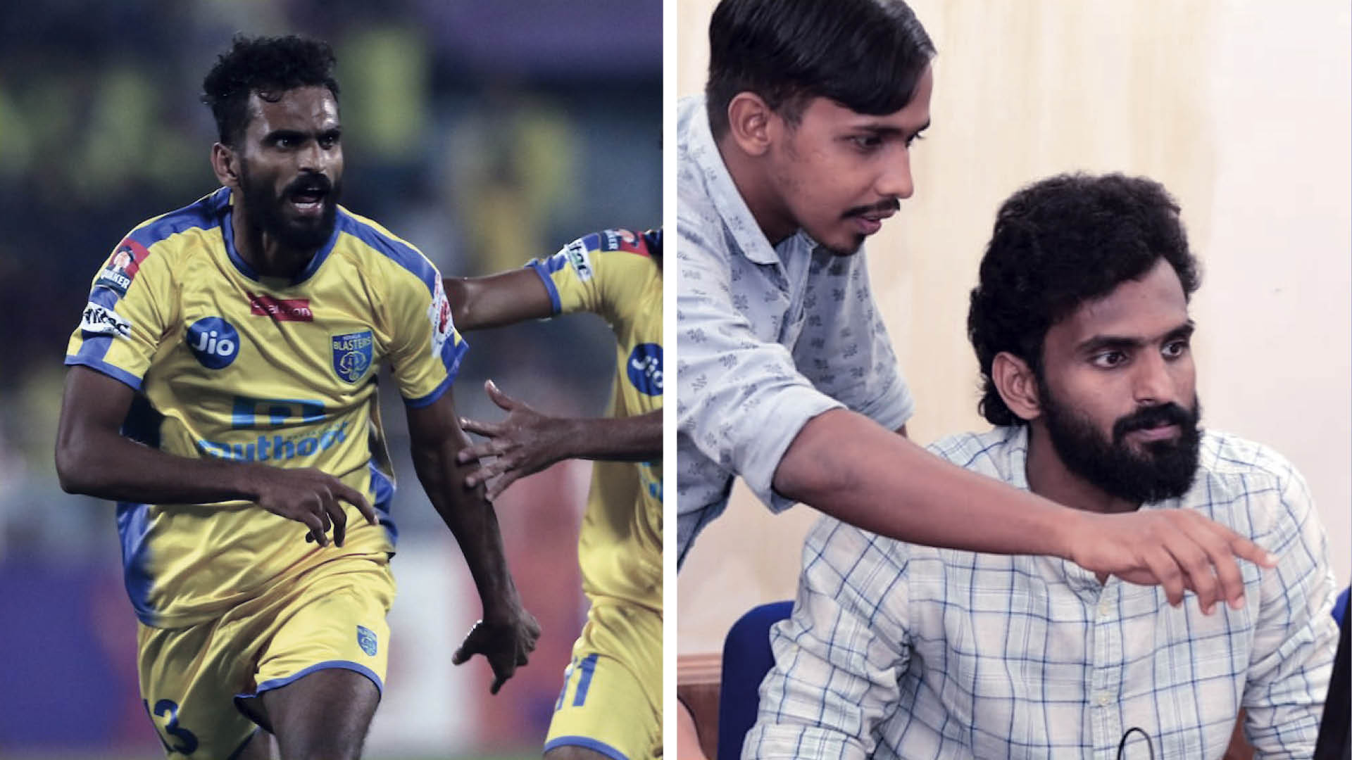 Indian footballer CK Vineeth working as volunteer in Covid-19 efforts in Kerala.