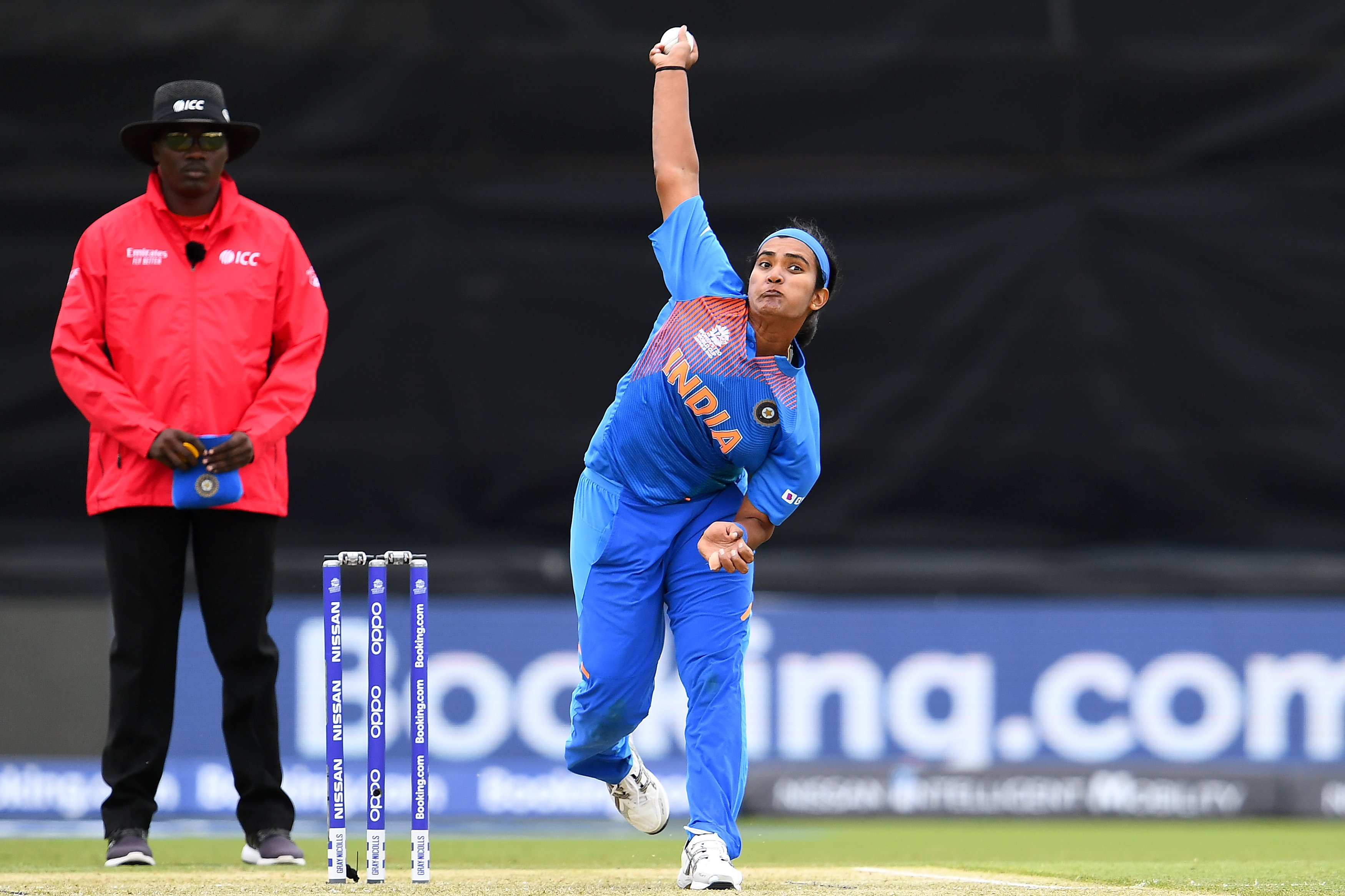 Pandey was one of the mainstays of India's bowling attack at the ICC Women's World T20 earlier this year, bagging seven wickets from five games at the tournament. (Picture courtesy: BCCI Women/Twitter)