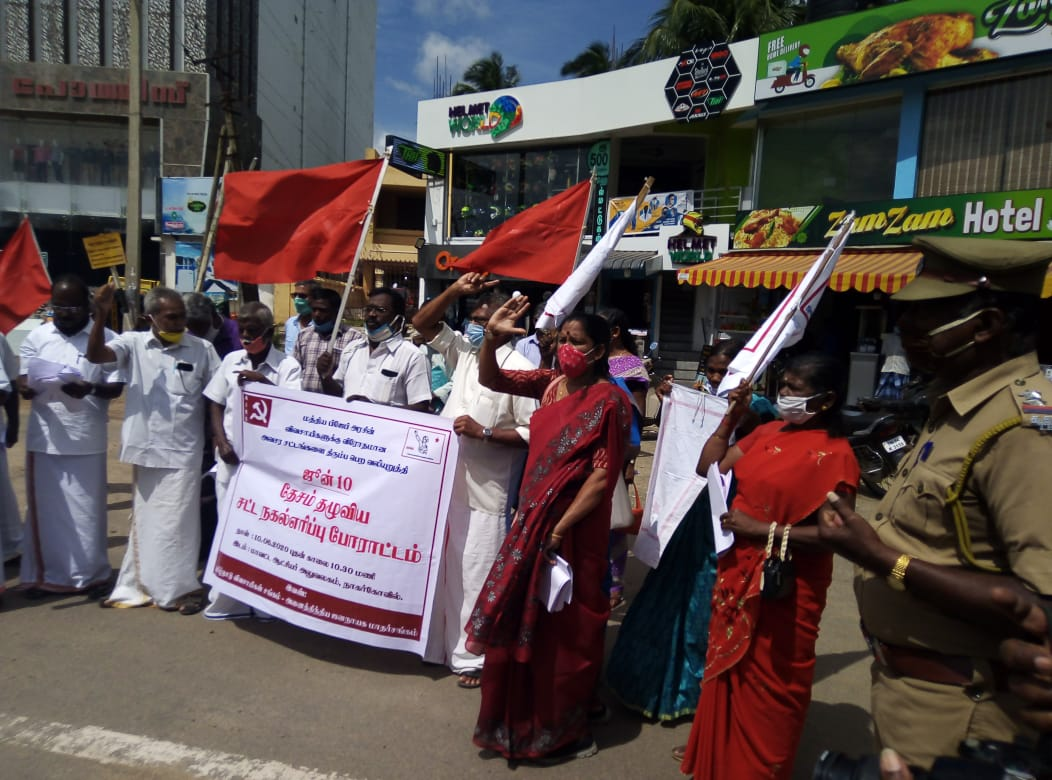 COVID-19 Lockdown: Statewide Protests to Demand Relief for Workers, Women and Differently Abled in Tamil Nadu