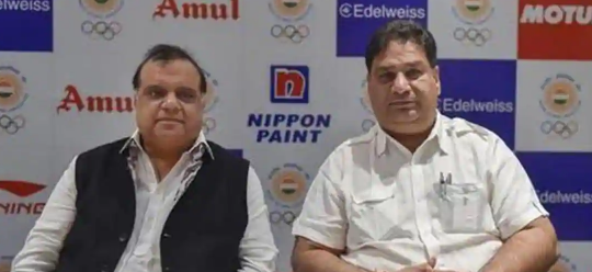 In conflict: IOA president Narinder Batra and secretary generay Rajeev Mehta