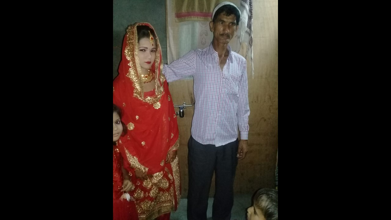 Sonam married Sajeed on 20 May. The photo shows her father bidding her farewell.