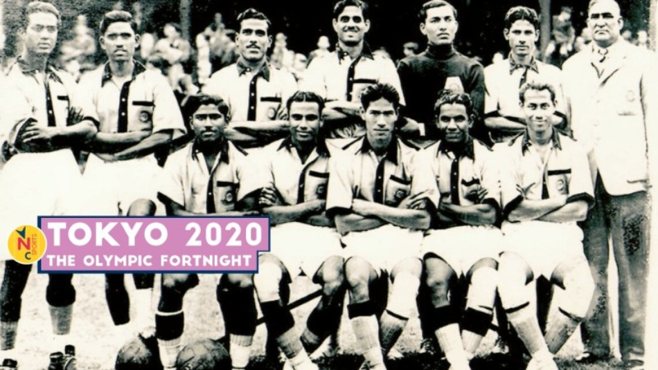The Indian football team for the 1948 London Olympics
