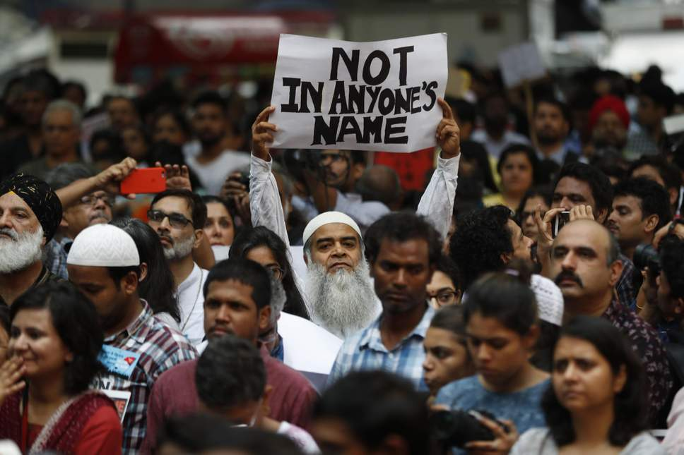Protest against lynchings in India