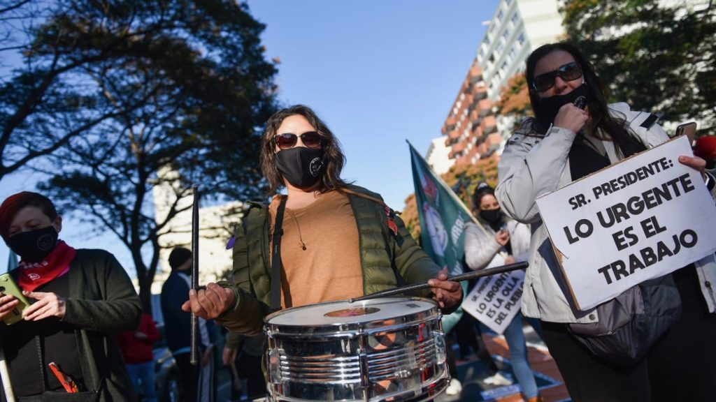 Protest against Urgent Consideration Law in Uruguay