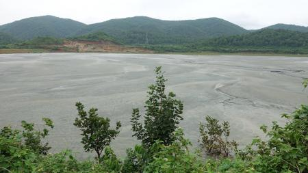 Pond polluted due to Uranium mining