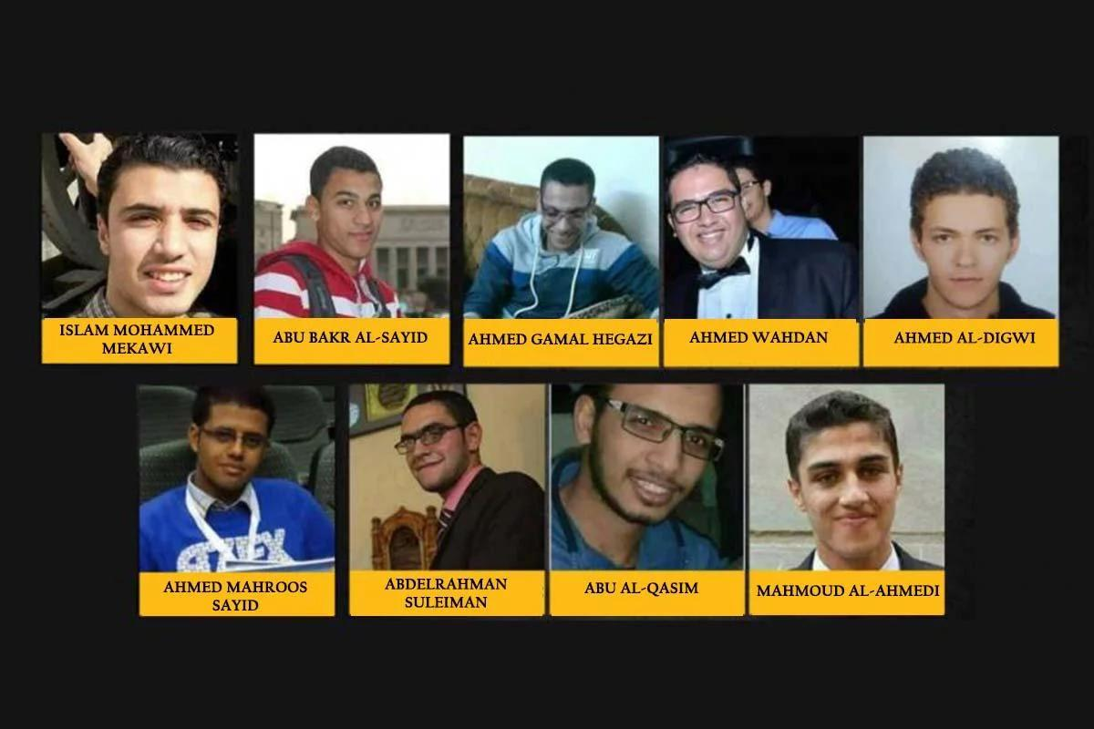 Names and photos of the 9 Egyptian prisoners executed by Egypt