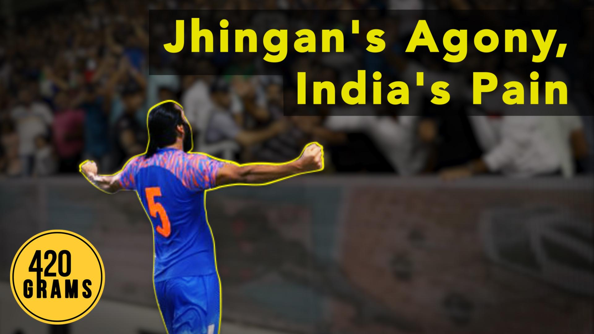 Indian football team defender Sandesh Jhingan out with an ACL injury