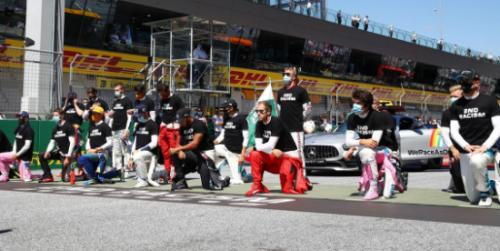 F1 drivers take a knee in protest against racism at the Austrian Grand Prix