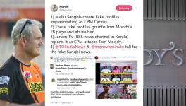 RSS supporters create fake profiles to abuse Tom Moody