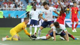 England football team vs Belgium football team at FIFA World Cup