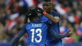 Paul Pogba and N'Golo Kante at FIFA World Cup