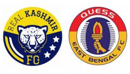 Real Kashmir FC vs East Bengal I-League match in New Delhi