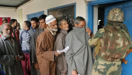 Voting in Kashmir