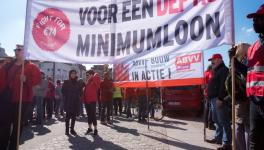 Belgian workers are demanding a minimum wage of 2,300 euros a month.
