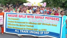 Massive Rally by Salem Steel Plant Workers