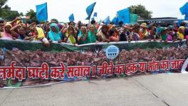 MP Villagers Affected by Rising Waters of Sardar Sarovar Protest, Demand Rehabilitation