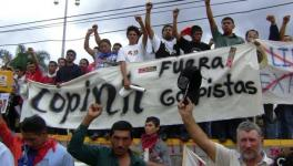 COPINH mobilizing against the coup in 2009.
