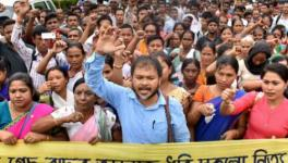 Akhil Gogoi-Led KMSS Stages Protest Against CAB in Assam