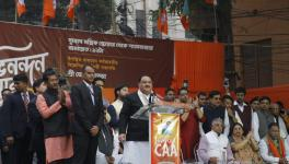 BJP National Working President JP Nadda addresses a rally in Kolkata in support of CAA- the amended citizenship act