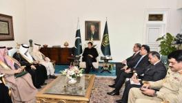 Pakistani Prime Minister Imran Khan received Saudi Arabia's Foreign Minister Prince Faisal bin Farhan in Islamabad on Dec.26, 2019.