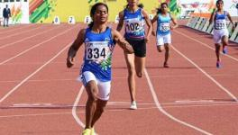 Dutee Chand competes at the Khelo India University Games