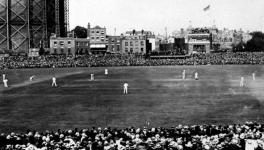 Cricket Test match in England from the early 20th century
