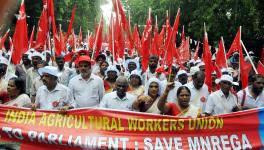 All India Agricultural Workers Union Protest