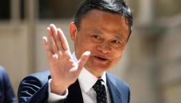 founder of Alibaba group Jack Ma arrives for the Tech for Good summit in Paris.