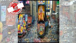 Photo of Hindu deity Ram on New York's Times Square billboards is manufactured