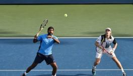 Rohan Bopanna and Denis Shapovalov at the US Open