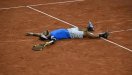 Lorenzo Giustino of Italy at the French Open