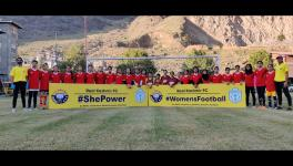 Real Kashmir FC have launched a women's football development programme that will target the grassroots to encourage more girls to take up the sport in the state. (Picture courtesy: Real Kashmir FC/Twitter)