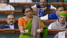 Finance Minister Nirmala Sitharaman in the Lok Sabha