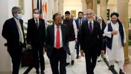 India's NSA Ajit Doval (L) met chairman of Afghan High Council for National Reconciliation Abdullah (R), New Delhi, October 5, 2020