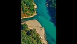Protest against hydropower project on Teesta river