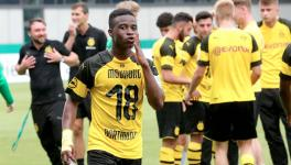 In March this year, Moukoko broke the scoring record for a Bundesliga U19 season scoring 38 goals in the season as Borussia Dortmund romped to the title. (Picture courtesy: Bundesliga)
