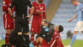 Trent Alexander Arnold of Liverpool FC injured