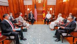Sri Lanka's President Gotabaya Rajapaksa (R) received US Secretary of State  Mike Pompeo (L), Colombo, October 28, 2020