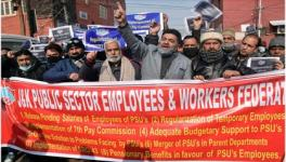 Without Salaries for Months, Cash-Starved PSUs Employees Protest in J&K