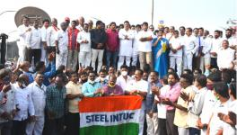 Thousands Join Protest in Vijayawada Against Privatisation of Vizag Steel Plant