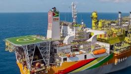 ExxonMobil's Liza Destiny vessel off the coast of Guyana. Photo: ExxonMobil