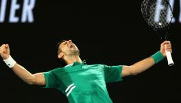 Novak Djokovic at Australian Open 2021