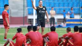 Igor stimac at Indian football team camp
