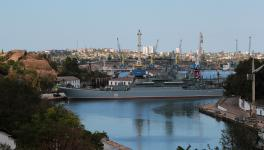 Azov (151) in Bay of Kilen, Black Sea, Sevastopol Bay, Crimea, Sevastopol 15 September 2014