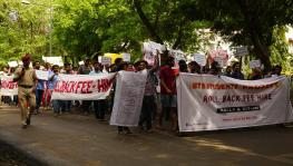 Students protest at IIT-Bombay against fee hike