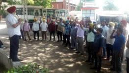 Punjab Roadways Employees protest