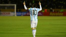 Lionel Messi of Argentina Football Team